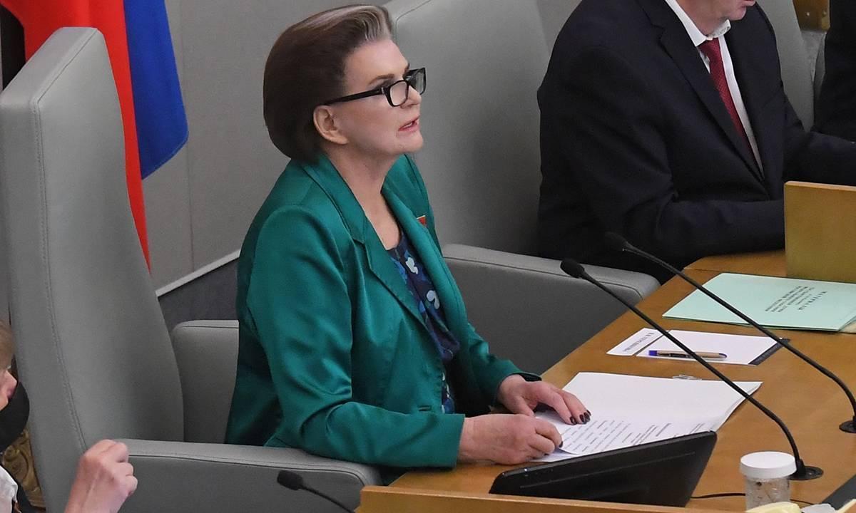 Валентина Терешкова: «Единая Россия» — законодательный «авангард» Президента